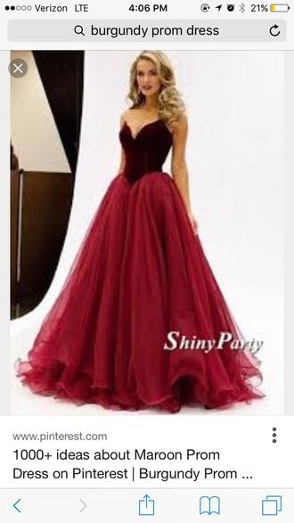 dress burgundy dress prom dress floor length dress gown