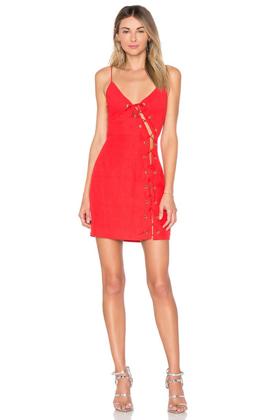 by the way. dress lace up dress lace red