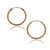 Rose Gold Filled 18K Plain Thin Small Hoop Endless Earrings 22mm Traditional | eBay