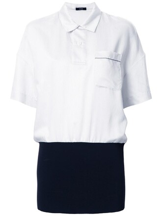 shirt polo shirt women white silk top
