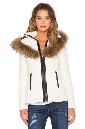 jacket fur white