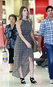 dress,maxi dress,ashley greene,shoes