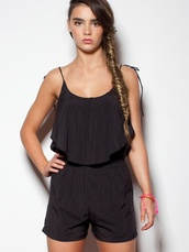 jumpsuit,blogger,celebrity,ute,ruffle,little black dress,summer,beach,boho,cute,chic,indie