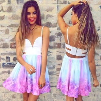 dress open back galaxy dress