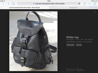 bag black backpack