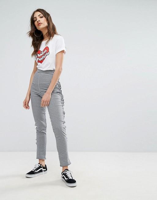 Child Nobody's Et Vichy Avec À Haute Ourlet Pantalon Taille Motif UpSzqMV