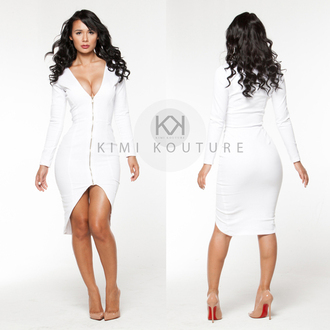 dress white dress zipper zipper dress custom made kimi kimi kouture knee length dress kimikouture
