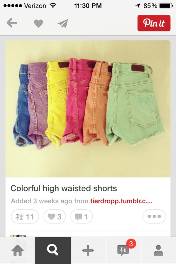 shorts High waisted shorts colored