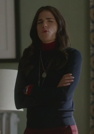 sweater red and navy turtleneck how to get away with murder karla souza laurel castillo