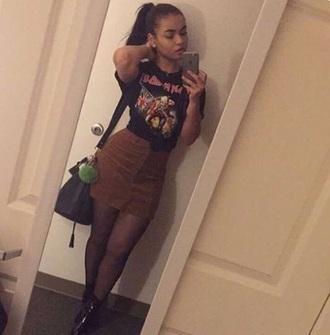 skirt mini skirt brown