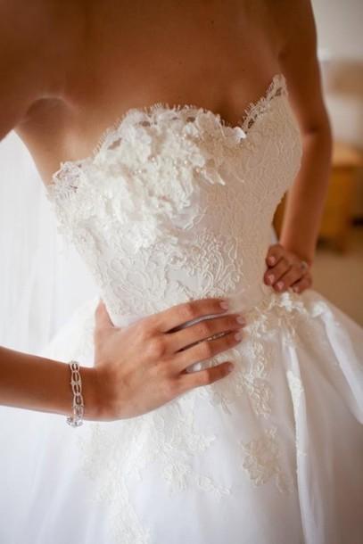 dress wedding dress wedding beautiful lace fitted lace gown sweetheart deb dress lace dress dresss quinceanera dress long prom dress prom dress white dress cream