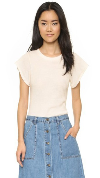 Free People Basic Thermal Flutter Tee - Almond