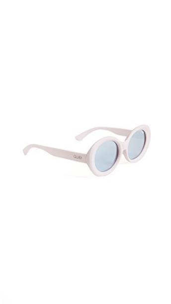 Quay sunglasses silver