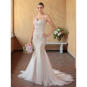dress,straps,mermaid prom dress,backless dress with beading,chapelet,gown