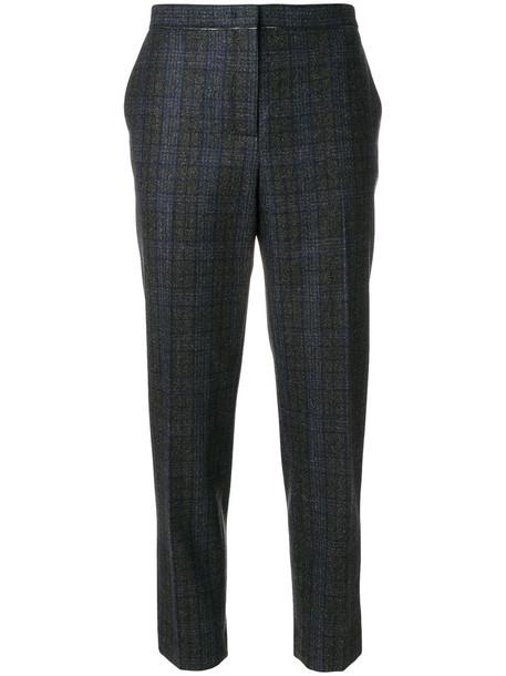 cropped women cotton wool grey pants