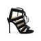 4 inch heels - black suede strappy sandals