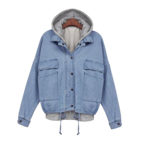 Light blue hooded denim two piece jacket from doublelw on storenvy