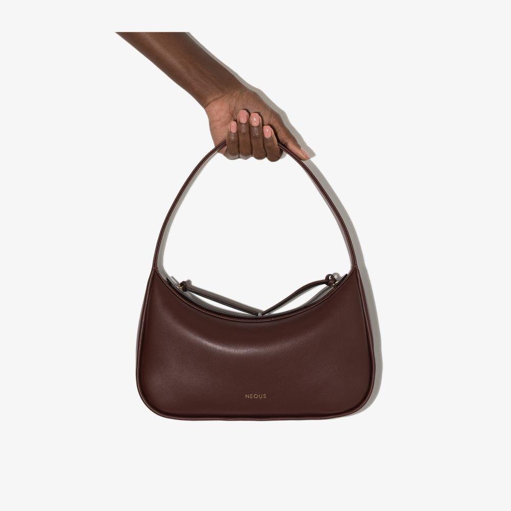 NEOUS - Women's Brown Delphinus Leather Shoulder Bag