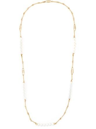 long necklace metallic jewels