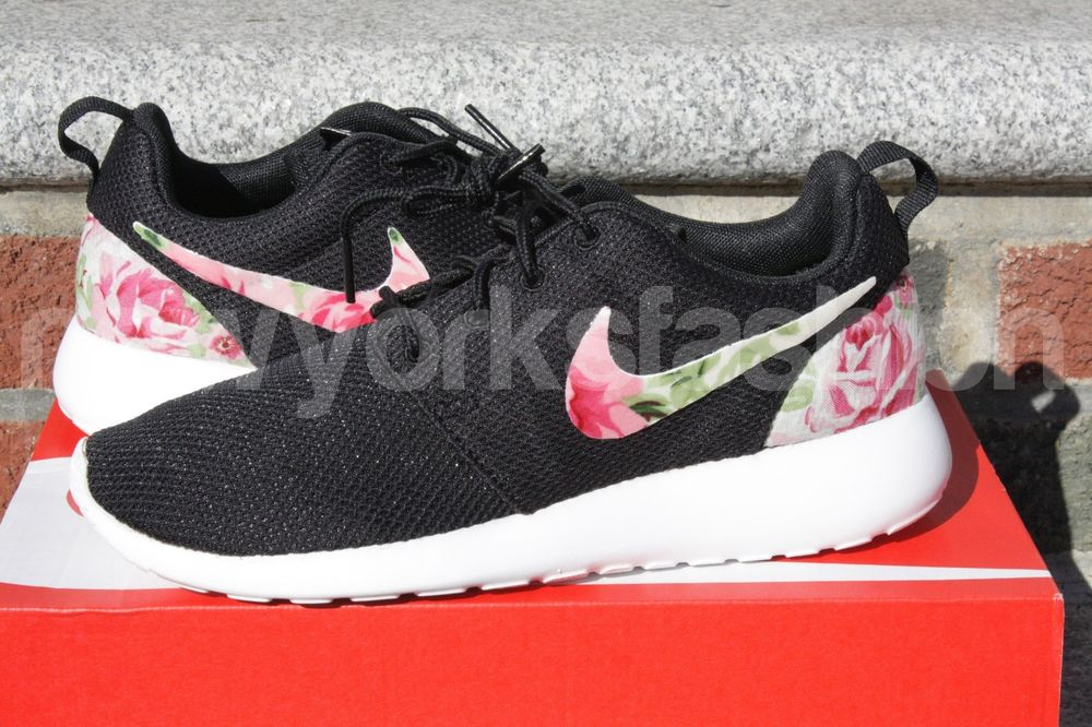 cafe8f531828 SPECIAL SALE New Nike Roshe Run Custom Black Rose Garden ...