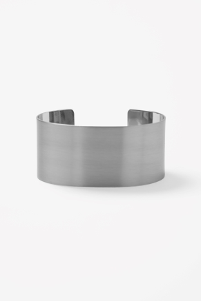 Brushed metal cuff