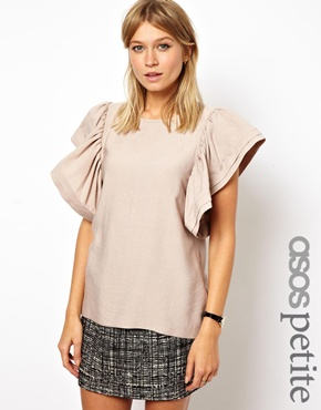 ASOS Petite | ASOS PETITE Exclusive Ruffle Sleeve Top at ASOS