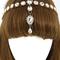 Hanna jeweled gold head chain
