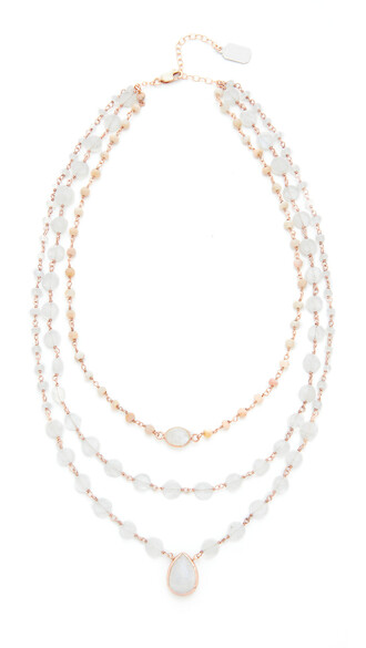 opal necklace pink jewels