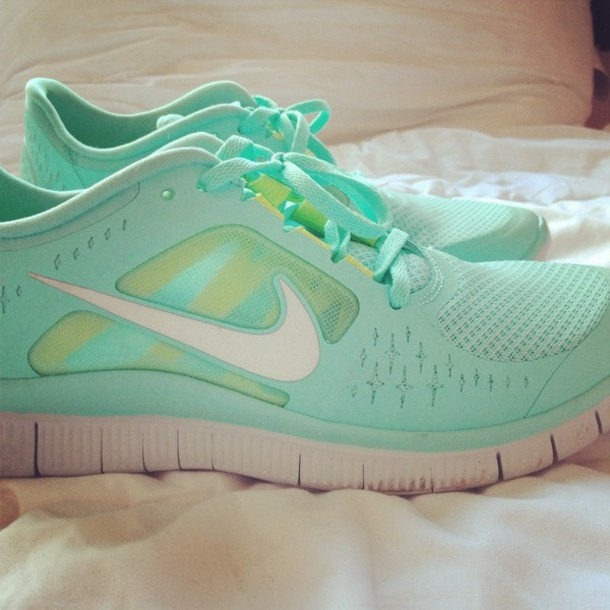 shoes nike blue green sneakers sports shoes workout turquoise mint light  blue nike running shoes tiffany