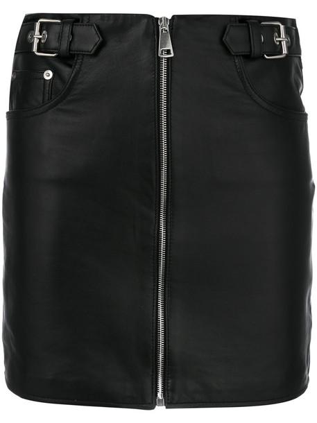 Manokhi skirt women leather black