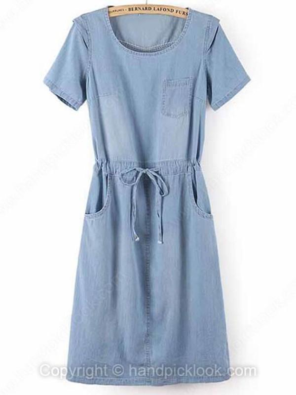 denim dress woman dress denim dress