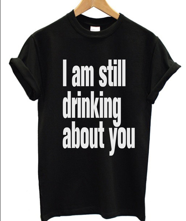 t-shirt drunk t-shirt black