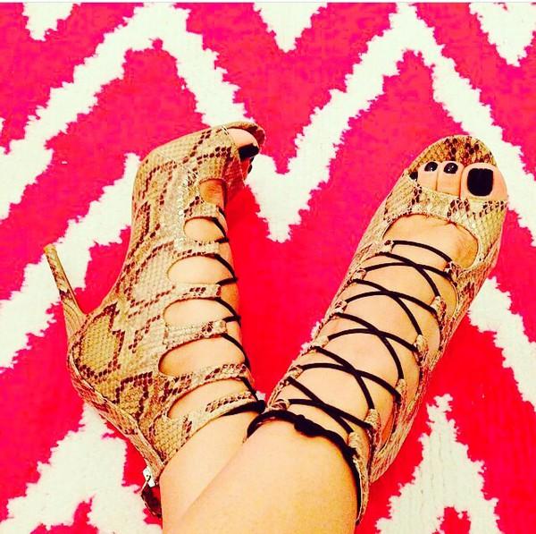 snake print high heels strappy heels high heel pumps snake skin