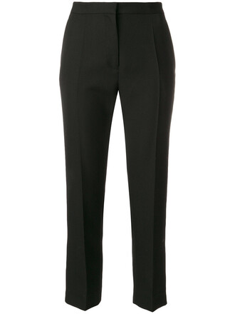 cropped women cotton black wool pants