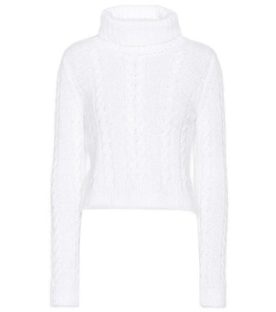 Philosophy Di Lorenzo Serafini Cable-knit turtleneck sweater in white