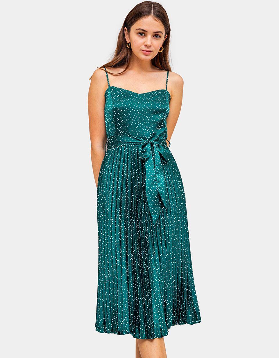 Saskia Pleated Dress