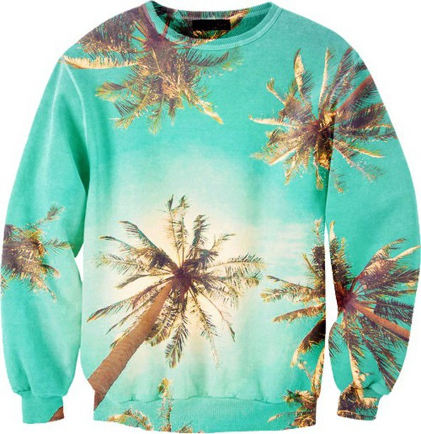 sweater palm tree print cool