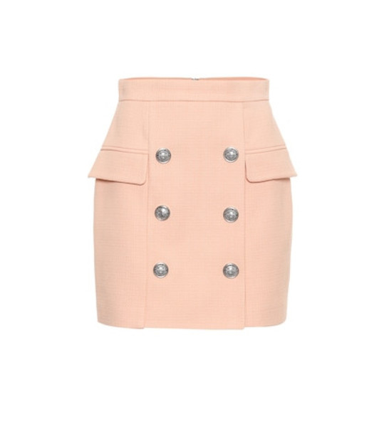 Balmain Cotton miniskirt in pink