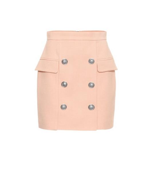 Balmain Cotton miniskirt in pink