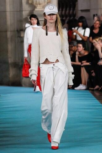 sweater pants paris fashion week 2016 cropped sweater crop