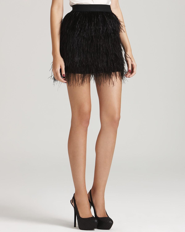 Aqua luxe feather skirt