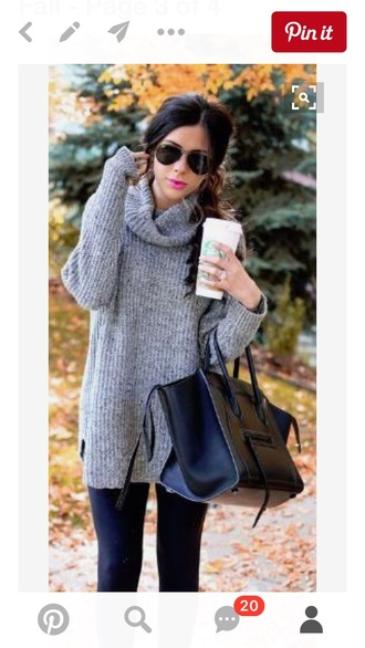 grey sweater turtleneck sweater knitted dress