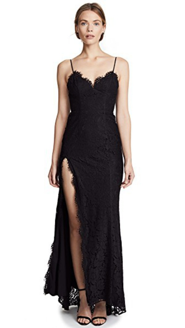Fame and Partners The Everett Dress in black
