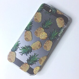 phone cover yeah bunny iphone pineapple transparent plants
