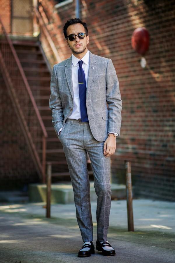 the metro man blogger jacket tartan menswear tie