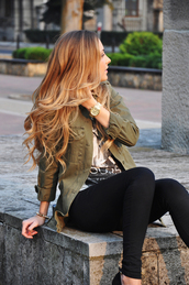 coat,army green jacket,jacket,blonde hair,veste army,khaki,army green,denim,green jacket,jeans,grunge,tumblr