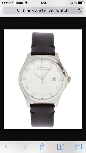 jewels watch marc jacobs marc by marc jacobs style silver hipster grunge fashion