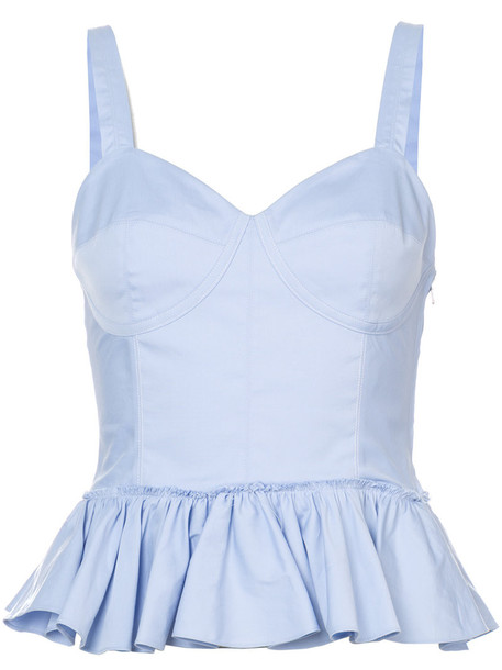 Tome top bustier bustier top women cotton blue
