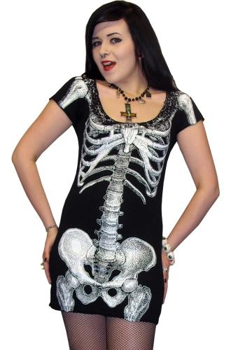 White skeleton dress