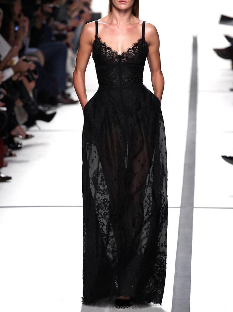 Hot lace sexy show body elegant dress